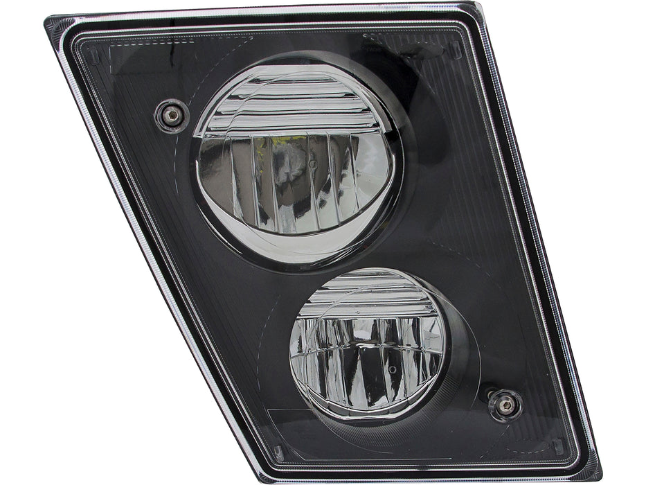 Volvo VNL Gen 2 Series Black Matte LED Bumper Fog Light Assembly RH 2003-2011 - Big Truck Hoods