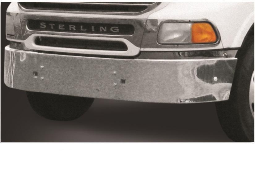 Sterling AT9500 3-Pc Steel Chrome Bumper - Big Truck Hoods
