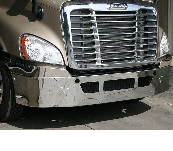 Freightliner Cascadia Bumper Steel Chrome  US Made - Big Truck Hoods