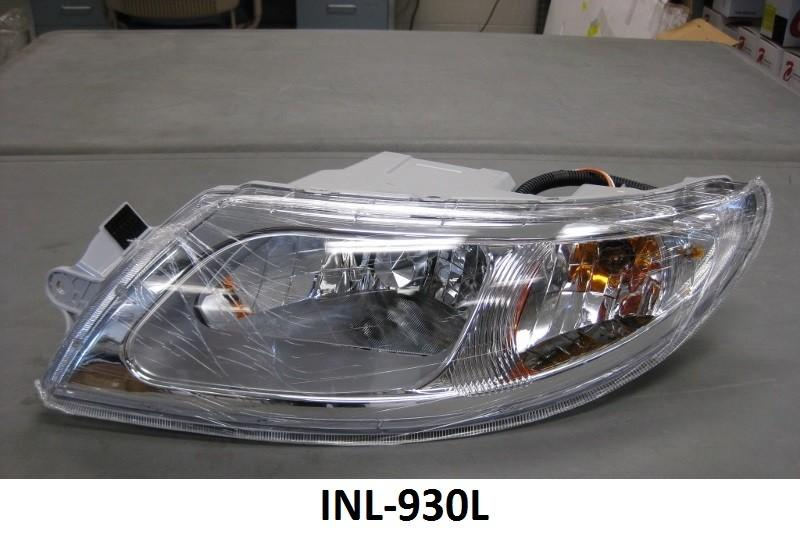 International 4100 / 4400 / 8500 / 8600 Drivers Side Headlight Assembly - Big Truck Hoods