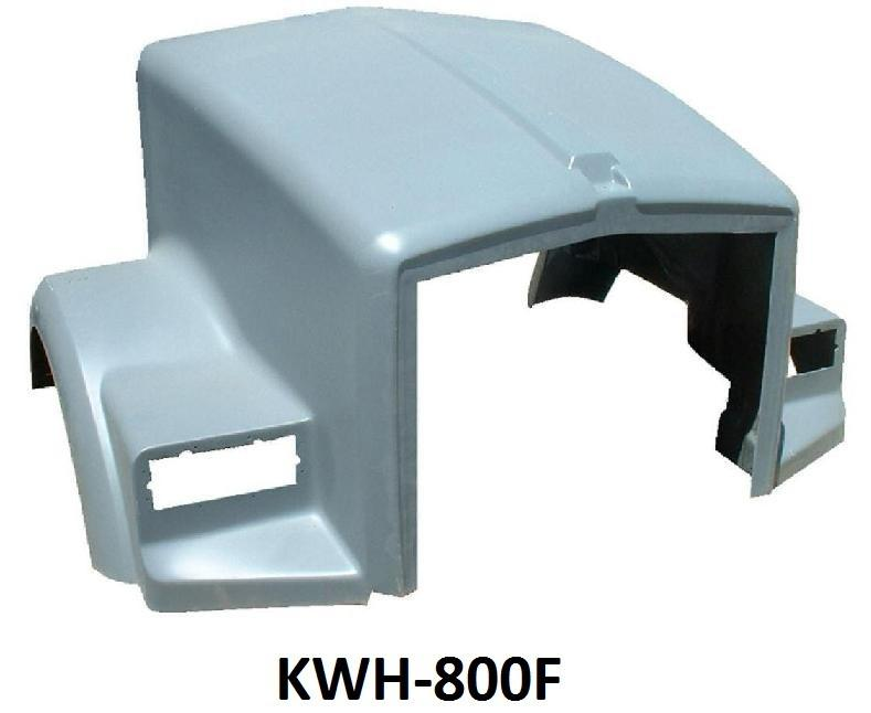Kenworth T-800 Flat Windshield Hood - Big Truck Hoods