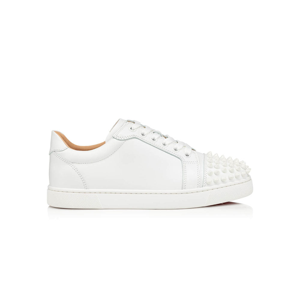 CHRISTIAN LOUBOUTIN - White Louis Junior Spike