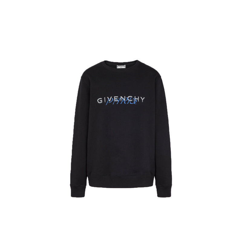 GIVENCHY Sweatshirt - Black/Blue Paris Logo