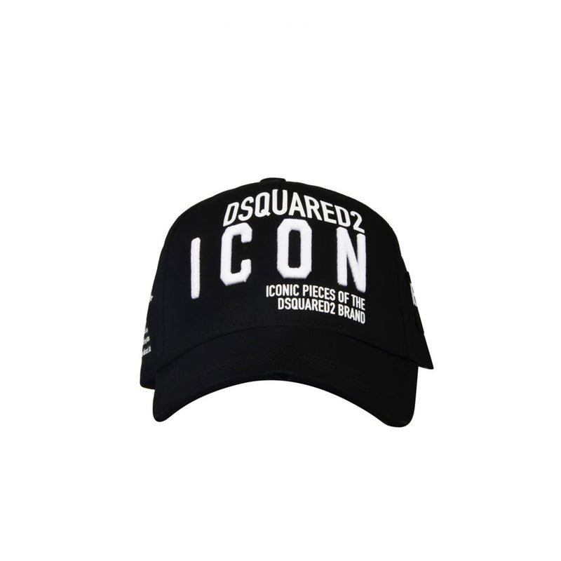 Dsquared cap - black D2 ICON