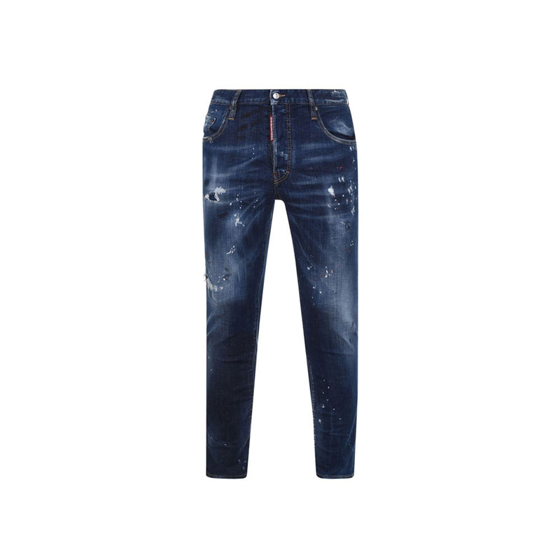 DSQUARED2 jeans- distressed/red paint