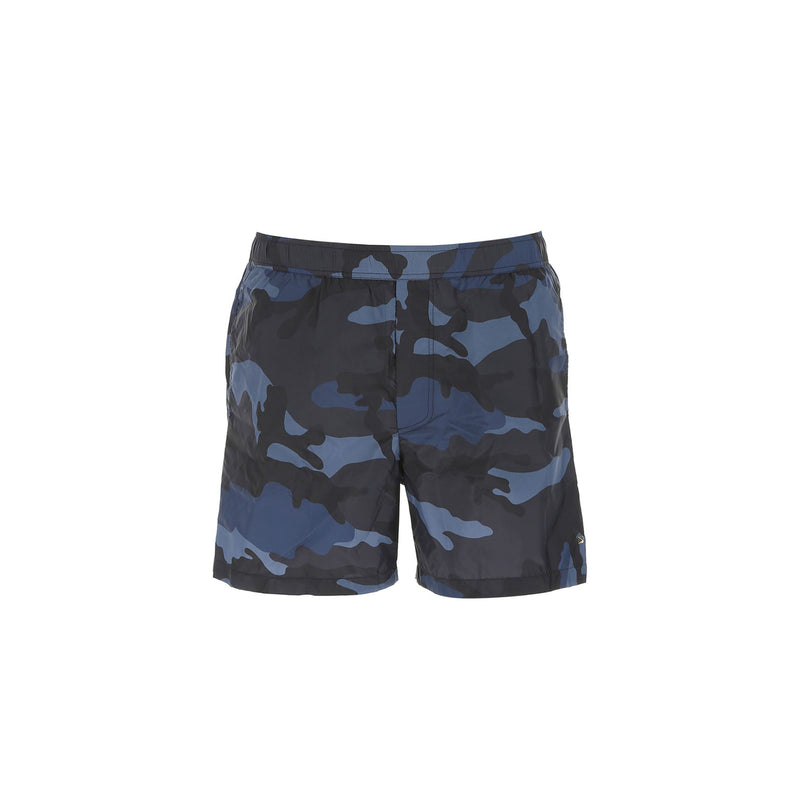 VALENTINO Camo Swim Short • Black Navy