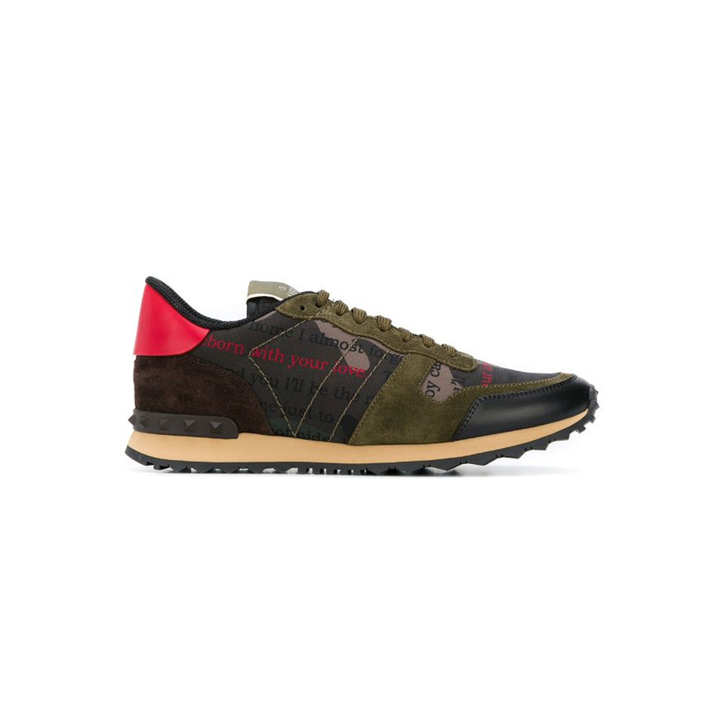 VALENTINO Rock Runners • Khaki writing