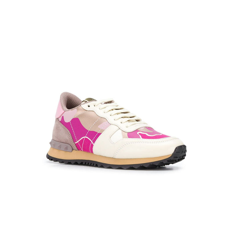 VALENTINO Rock Stud Runners - Womens Pink/Cream