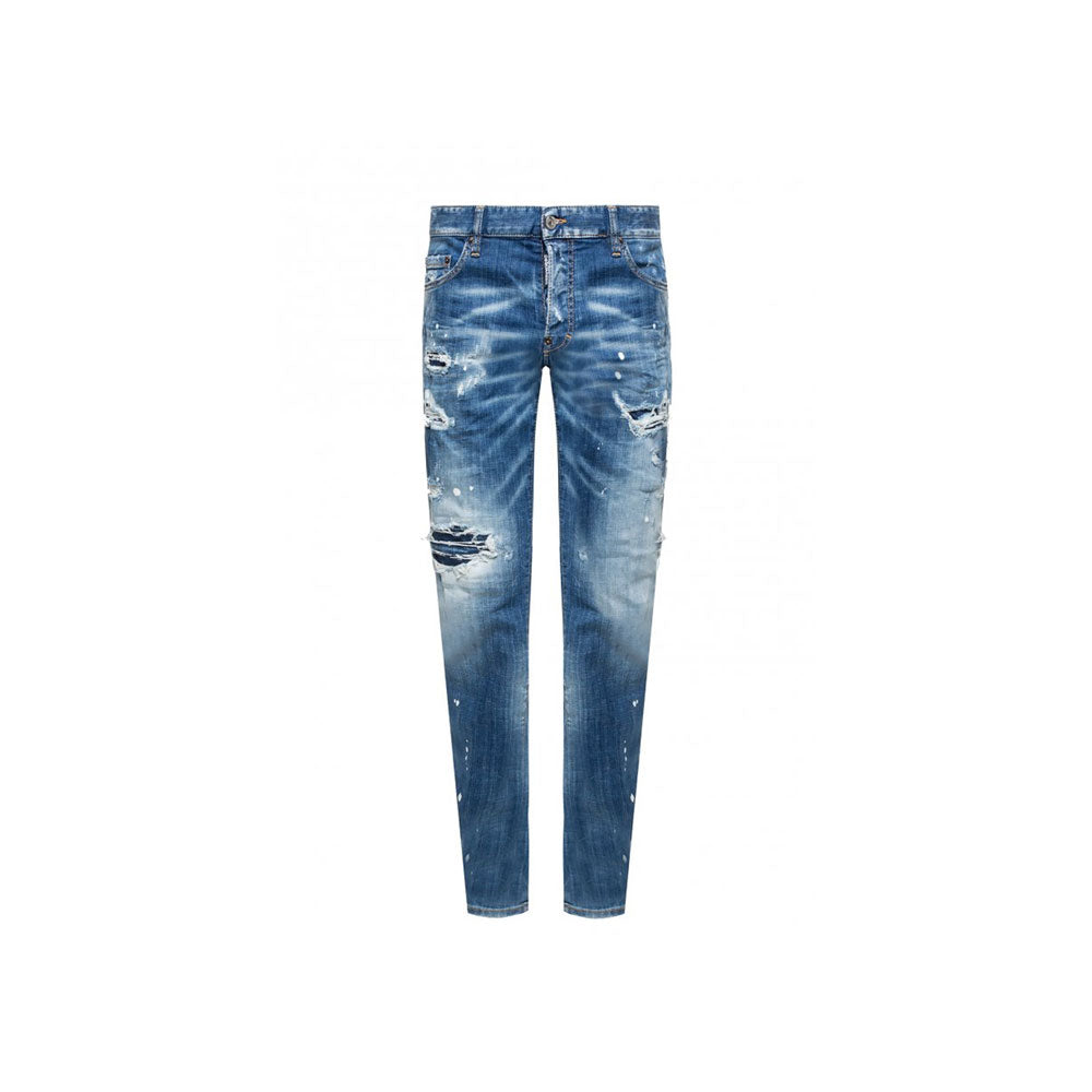 DSQUARED2 jeans- distressed/light wash