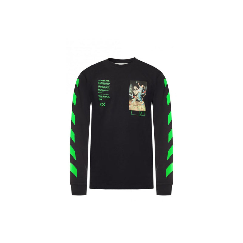 Off White sweatshirt- Black and Green