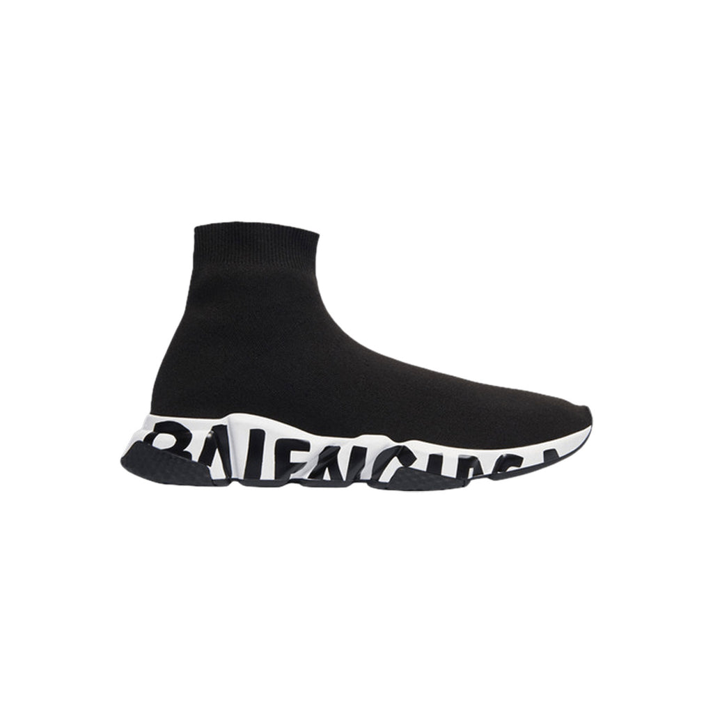 BALENCIAGA Mens Speed Runners - Black Lettered Sole