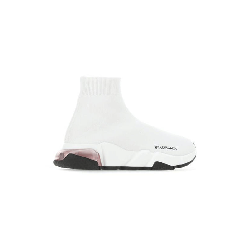 balenciaga white pink speed runners
