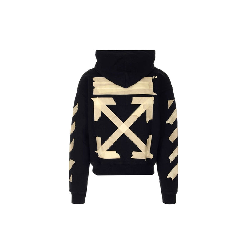 Off White Hoodie- black and beige