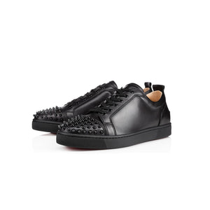 CHRISTIAN LOUBOUTIN - black leather spiked