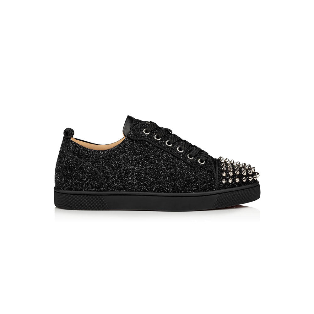 CHRISTIAN LOUBOUTIN - black silver spiked