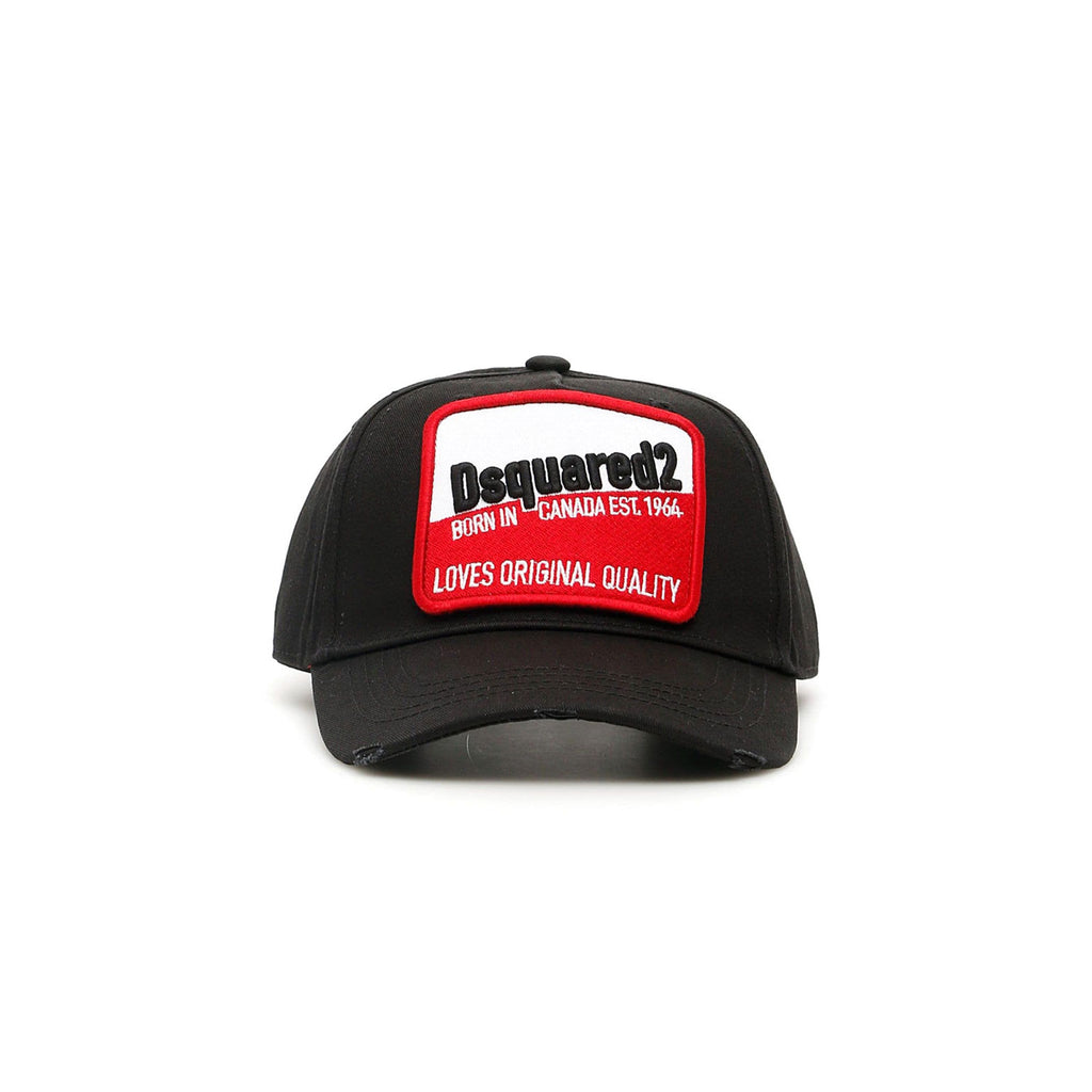 Dsquared cap - Patch logo Black/Red