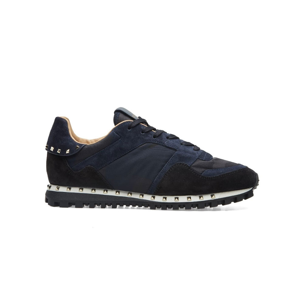 VALENTINO Sole Stud Runners • Black/navy camo