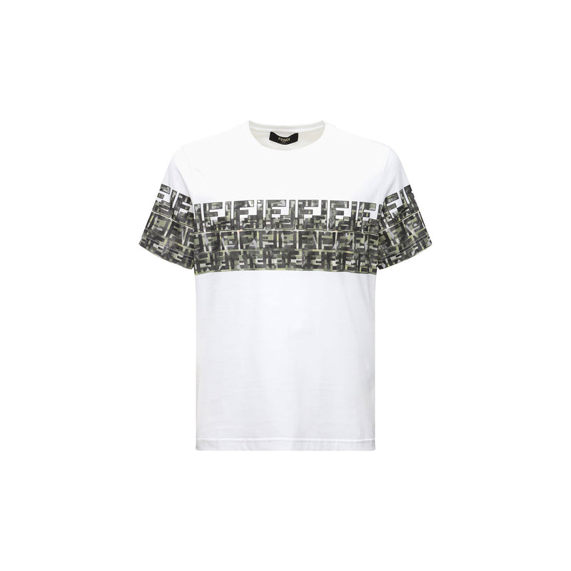 Fendi T-Shirt - White/Logo Band