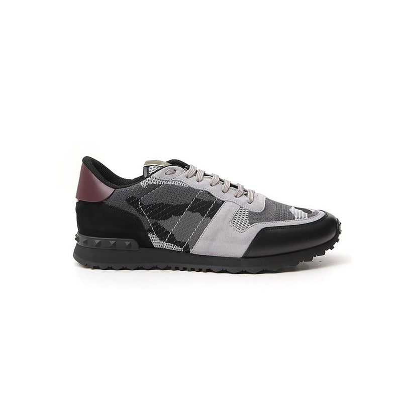 VALENTINO Mesh Rock Stud Runners - Grey