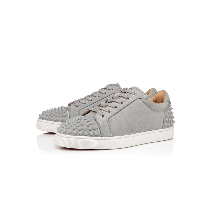 CHRISTIAN LOUBOUTIN - grey spiked