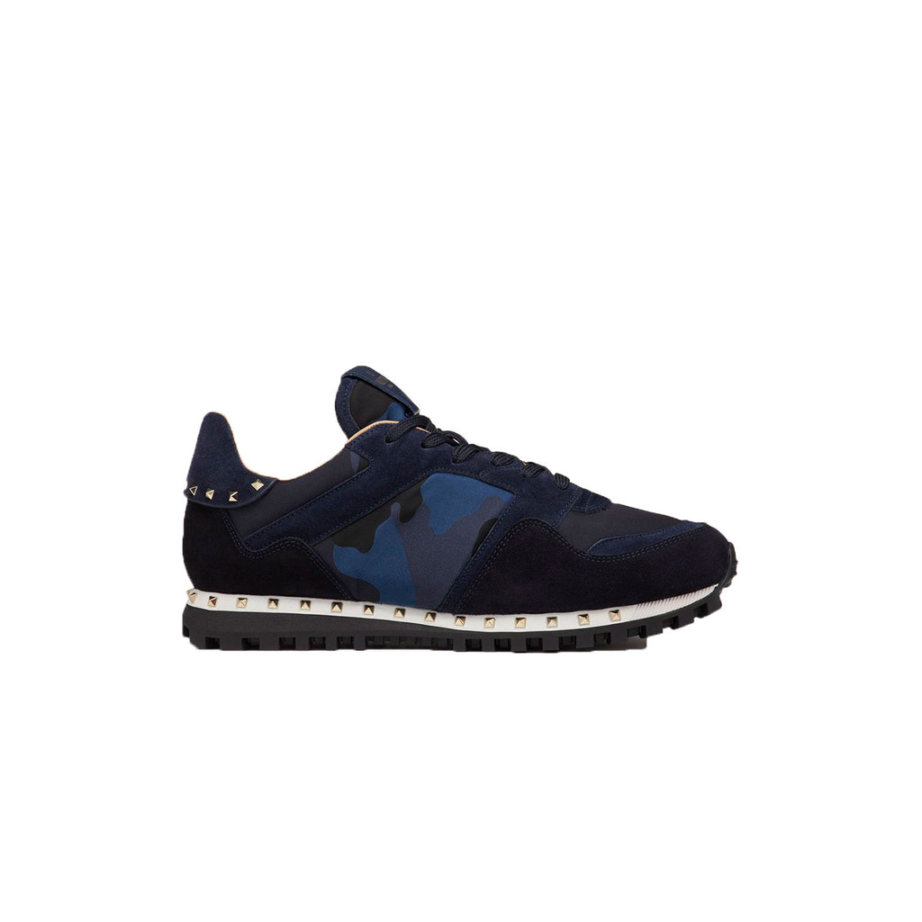 VALENTINO Sole Stud Runners • Navy/Blue Camo