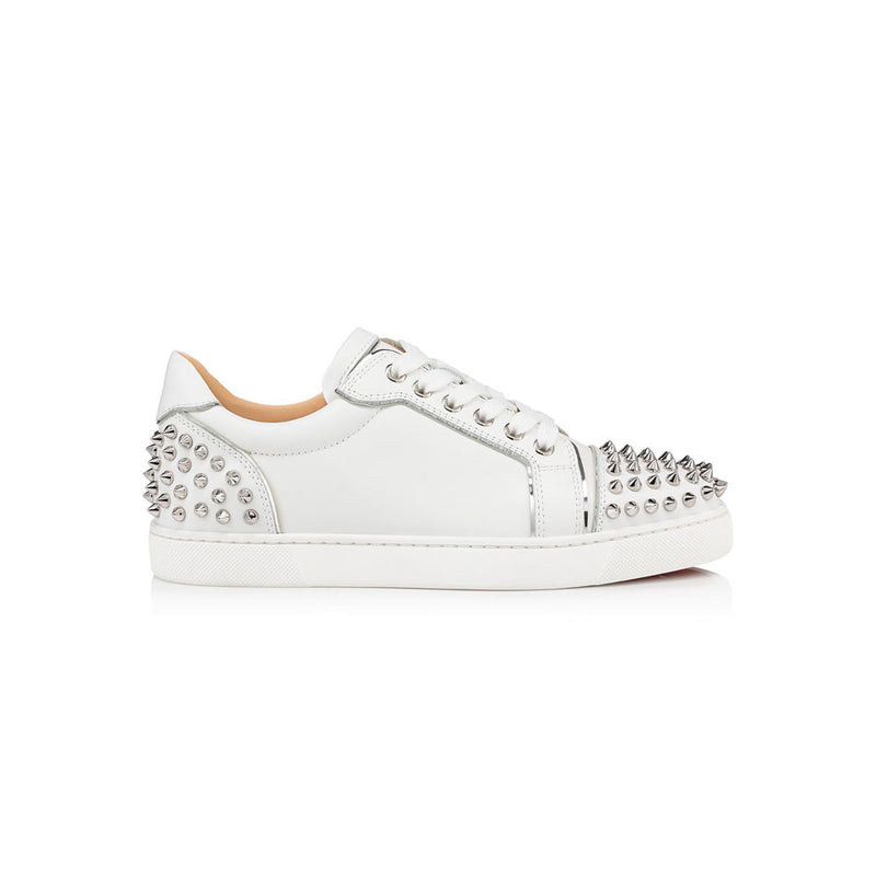 CHRISTIAN LOUBOUTIN low- white/silver spike women