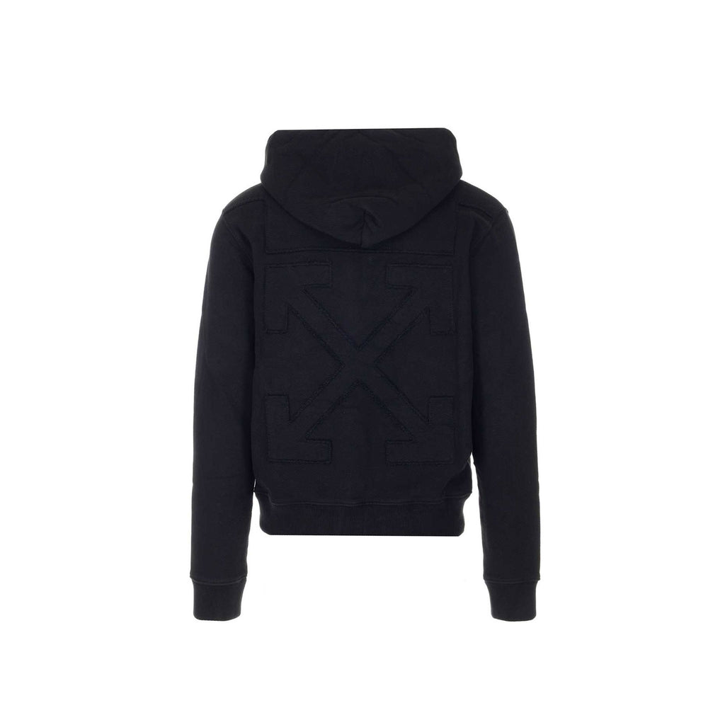 Off White Hoodie- all black arrow