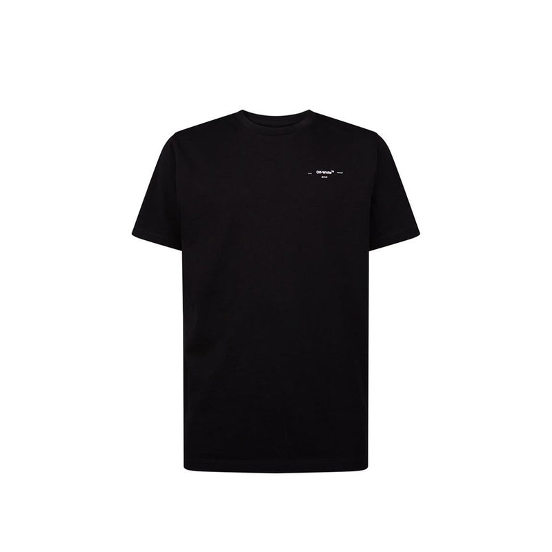 Off White T shirt- all black/arrow back