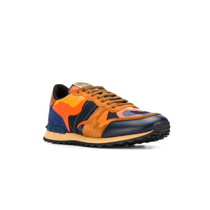 VALENTINO Rock Stud Runners • Orange navy