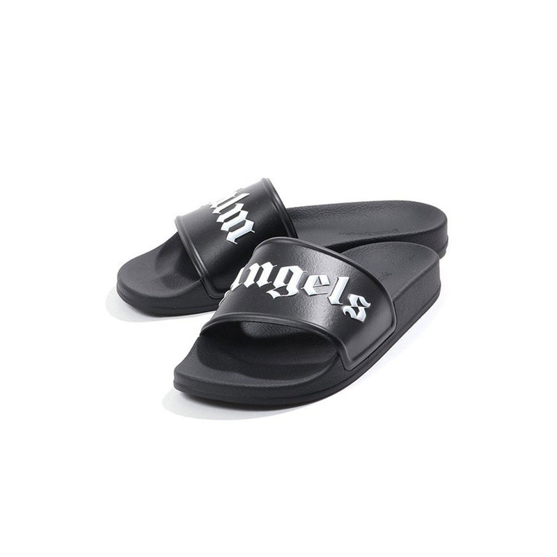 Palm Angels Slides- Black/White