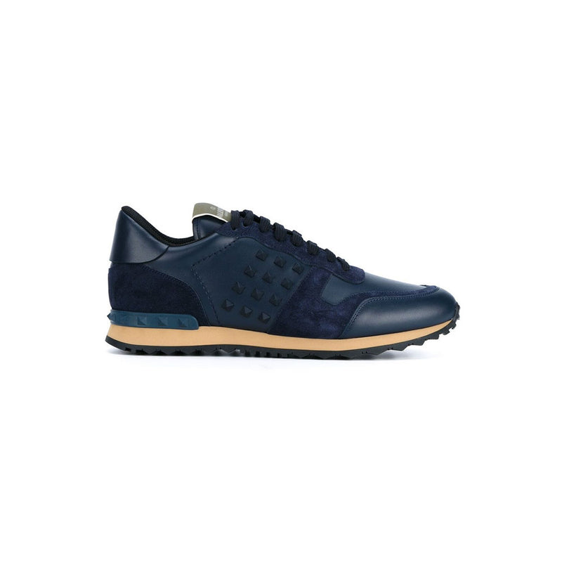 VALENTINO Rock Stud Runners - Navy Studded