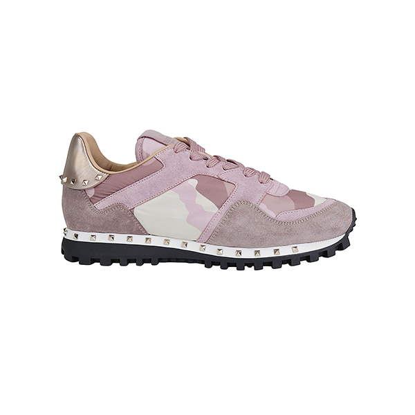 VALENTINO Sole Stud Runners • Pink