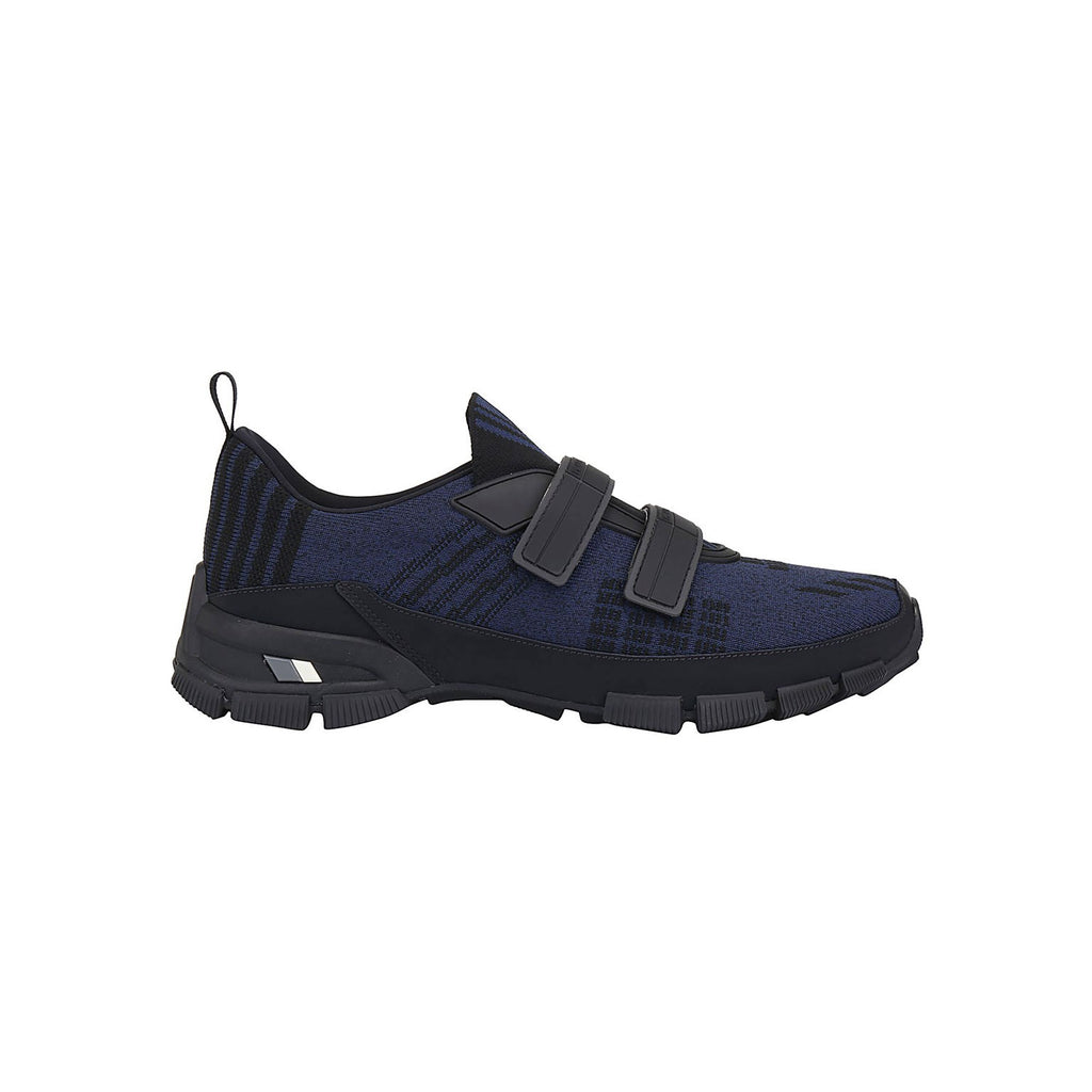 PRADA Knit Crossection Trainers - Navy Black