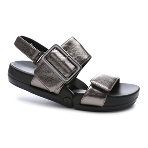 FIGULOUS BUCKLE <br /><font size=-0.75>Gunmetal Metallic Leather</font>
