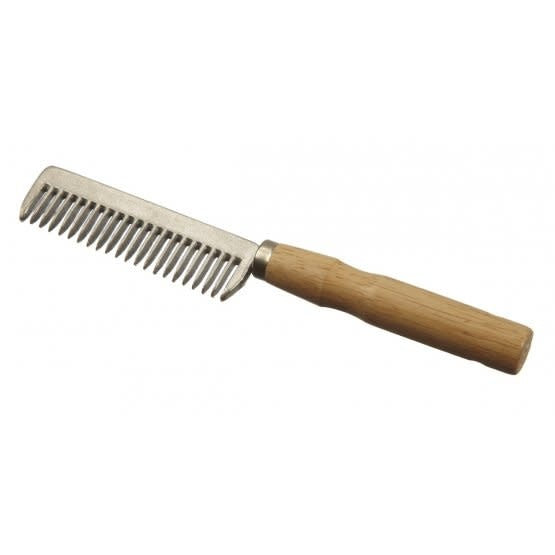 Wooden handle pull comb