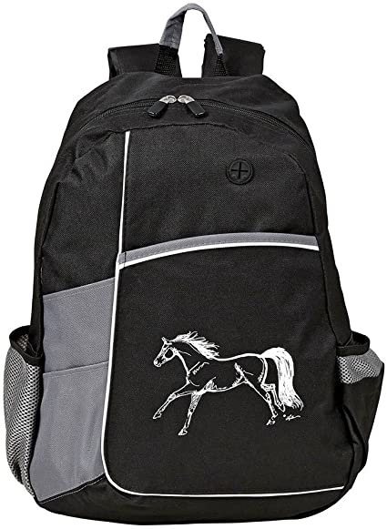 AWST linear Horse Backpack Blk/Grey