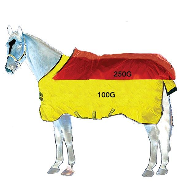 HORSEWARE - Rambo Supreme Turnout Medium (250g) Vari-Layer