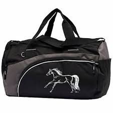 AWST Galloping Horse Duffle Bag Black/Grey