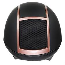 IRH IR4G XLT Riding Helmet Matte Black w/Rose Gold Vent