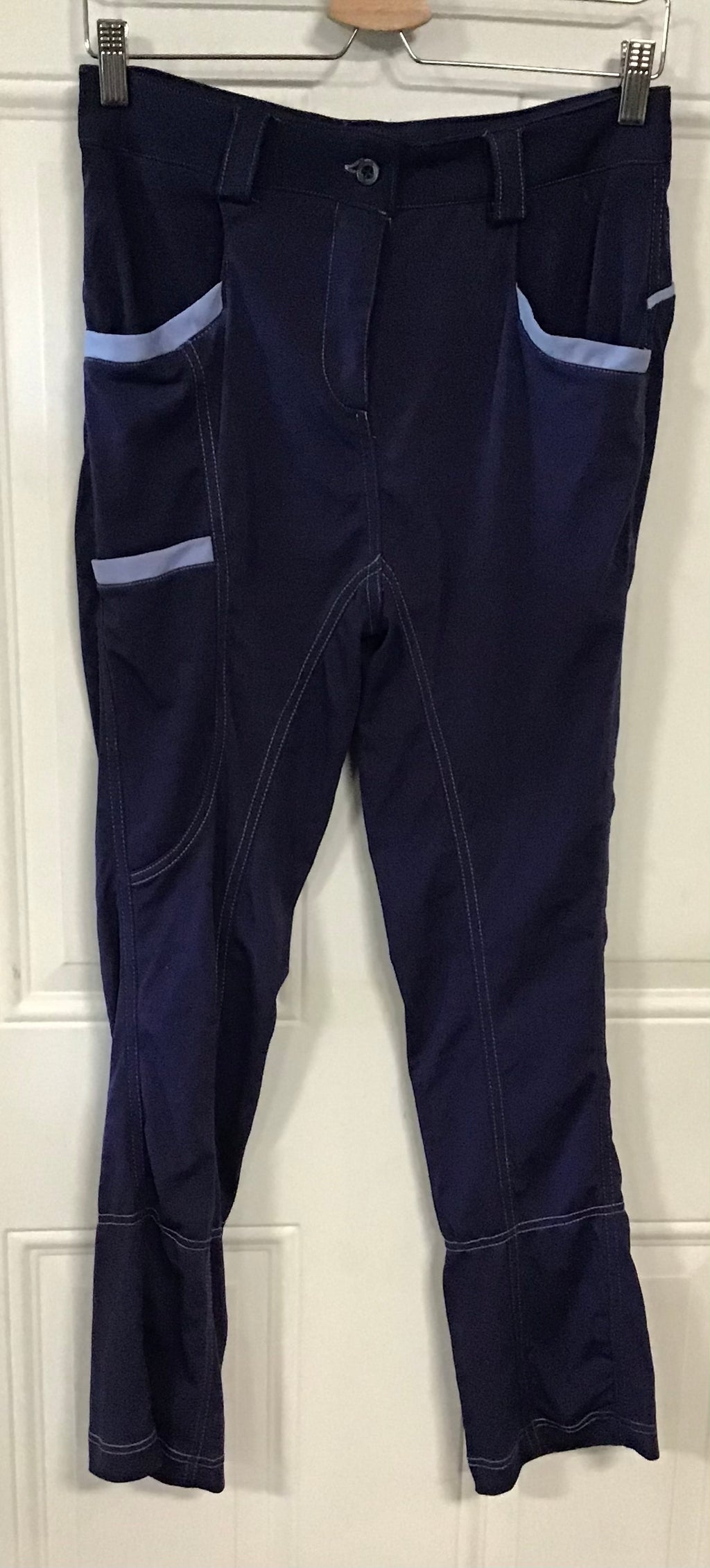 Ladies blue riding pant 32