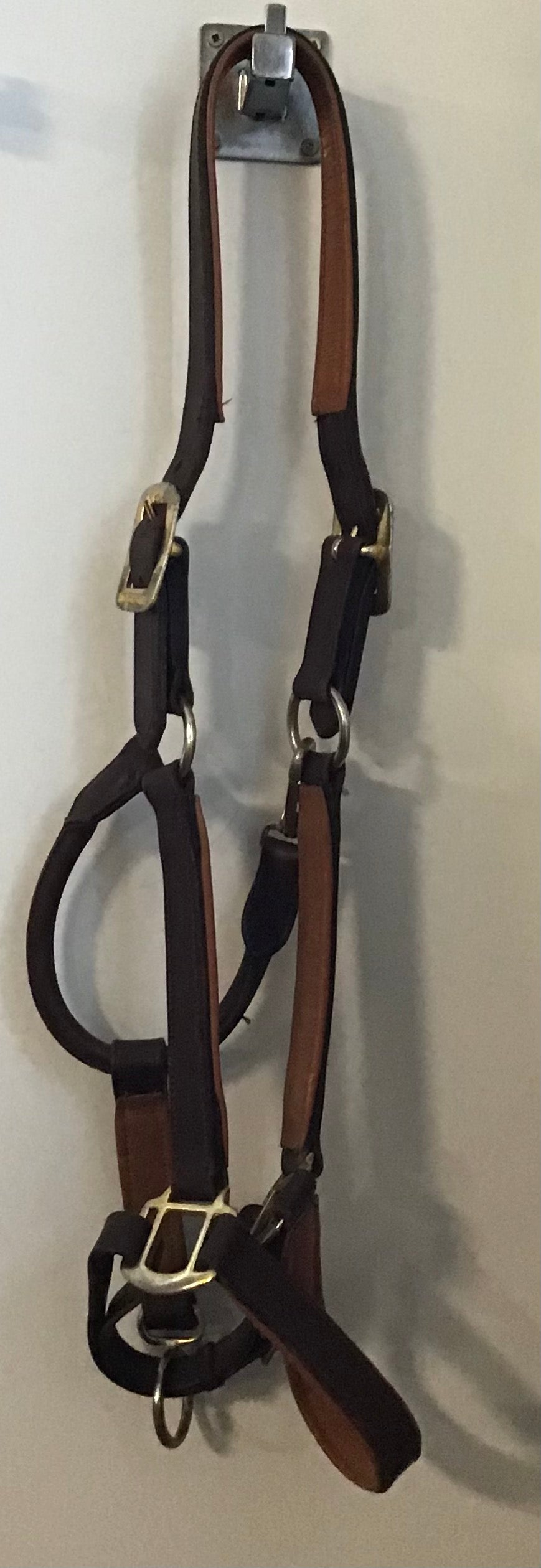 Horseware leather halter (WB)