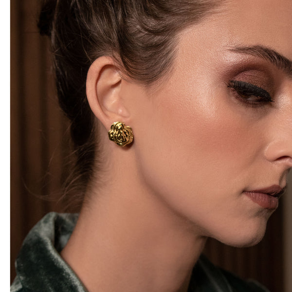Gold Abalone Earrings