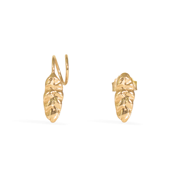Gold Hojita Twirl Earrings