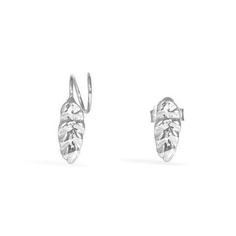 Silver Hojita Twirl Earrings