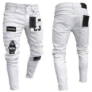 3 Styles Men Skinny Jeans in black, white, light blue - Mens Apparel - COSSTO