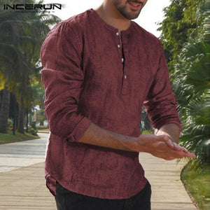 Casual Long Sleeve Shirt - Mens Apparel - COSSTO
