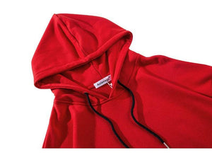 Hooded Hip Hop Street Pullover in black or red - Mens Apparel - COSSTO