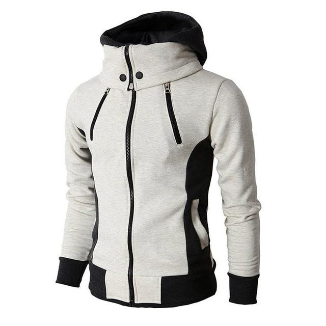 Hoodie with zipper and wide collar for $47.45