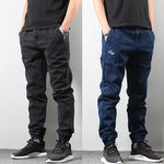 Japanese Style Men's Streetwear Jeans in black, blue - Mens Apparel - COSSTO