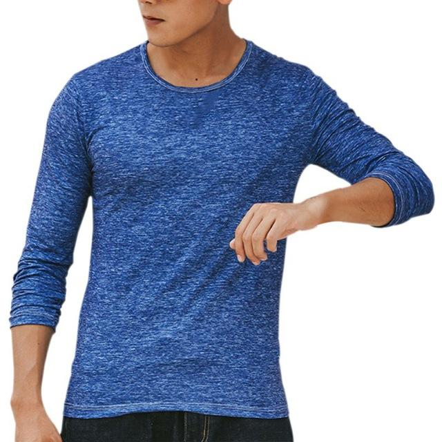 Men T-shirt Casual Long Sleeve for $16.26
